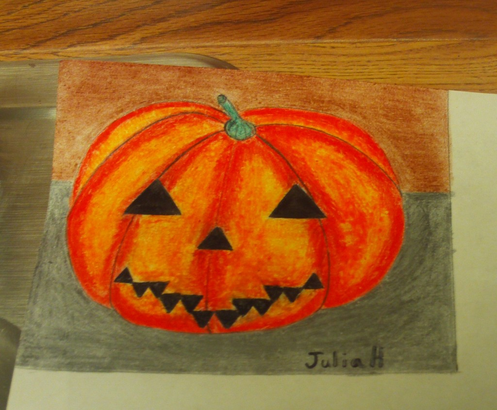 The Jack-o-Lantern Drawing