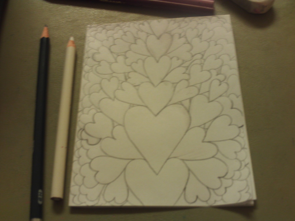 Drawing The Hearts On The Valentine