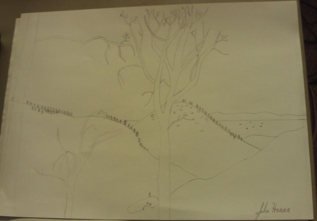 Drawing the San Bernardino Mountains