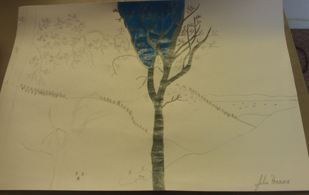 Drawing The Backside of The San Bernardino Mountains