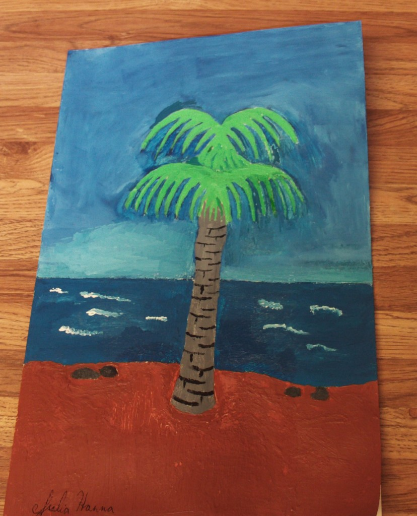 The Painted Palm Tree Card