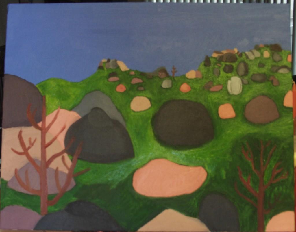 The Pinnacles Painting