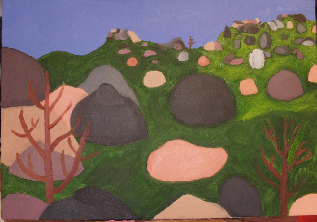 The Pinnacles Painting