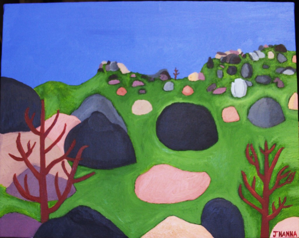 I signed the Pinnacles painting to give it a finishing touch.