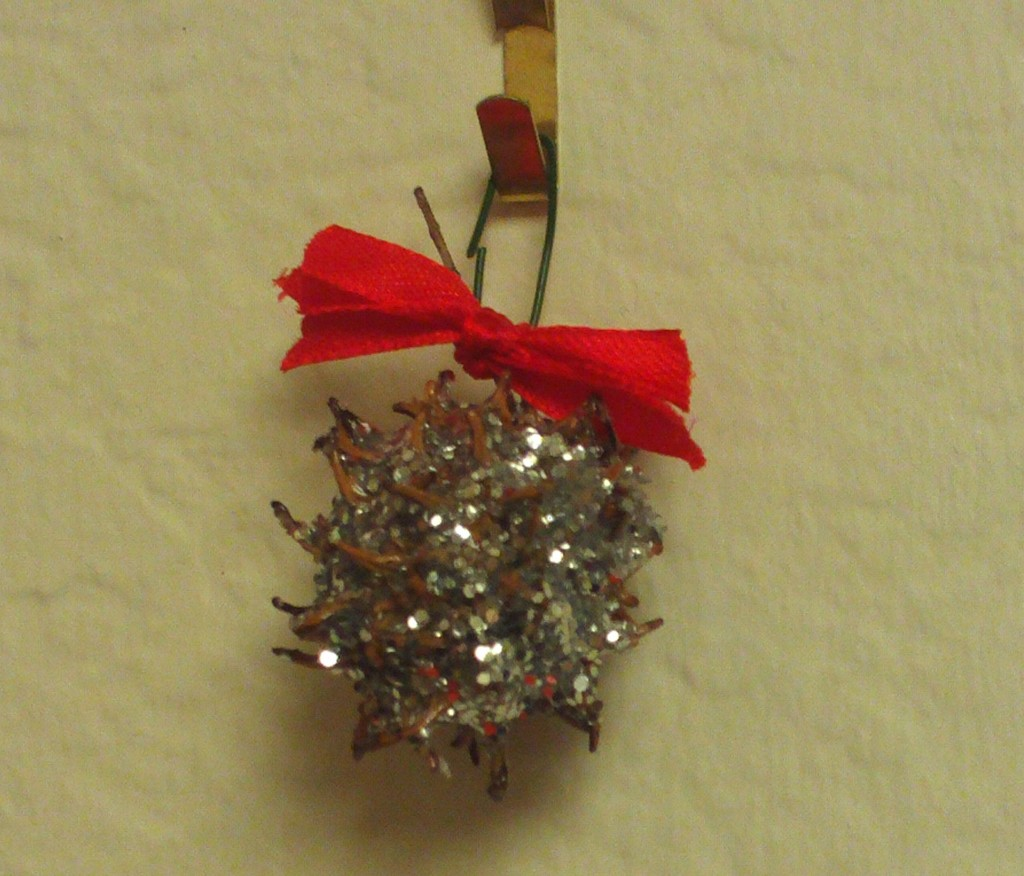 Liquidambar Ornament With Red Bow
