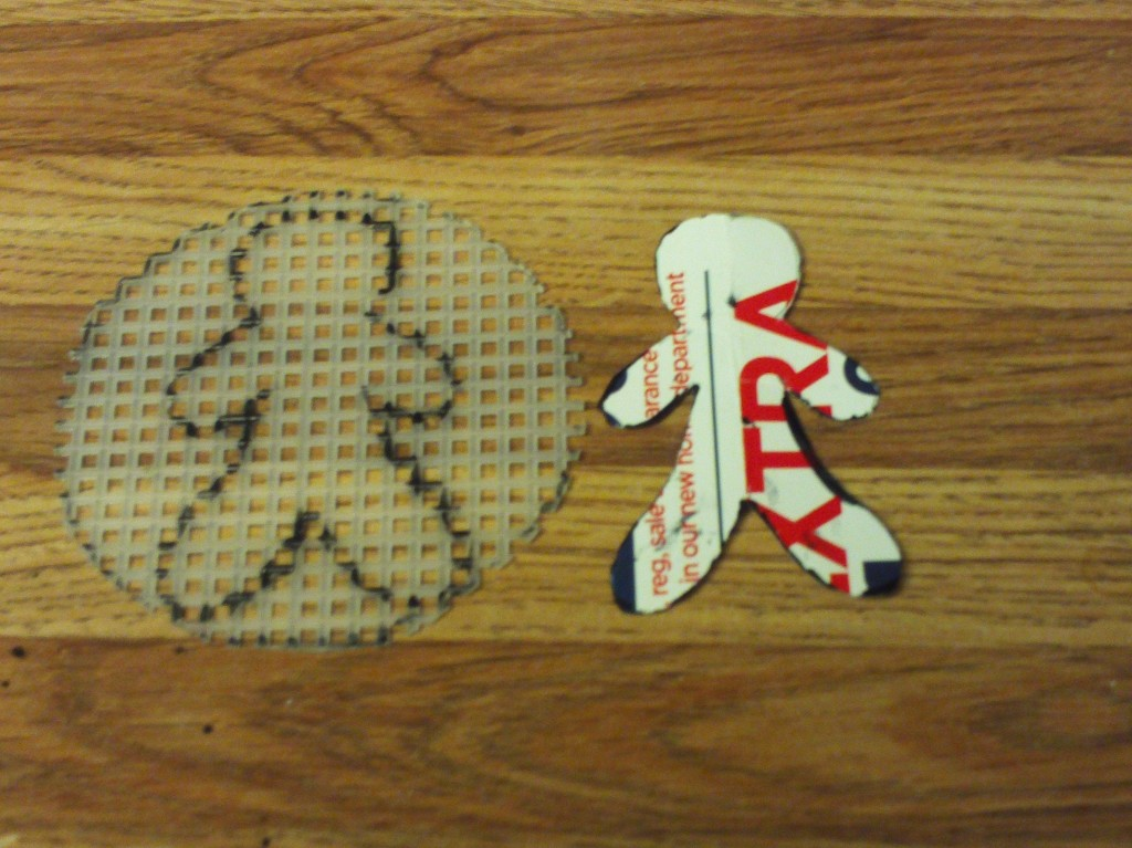 Use a marker to trace around the gingerbread man template.