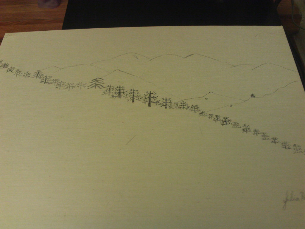 Outline Drawing For The Pinnacles