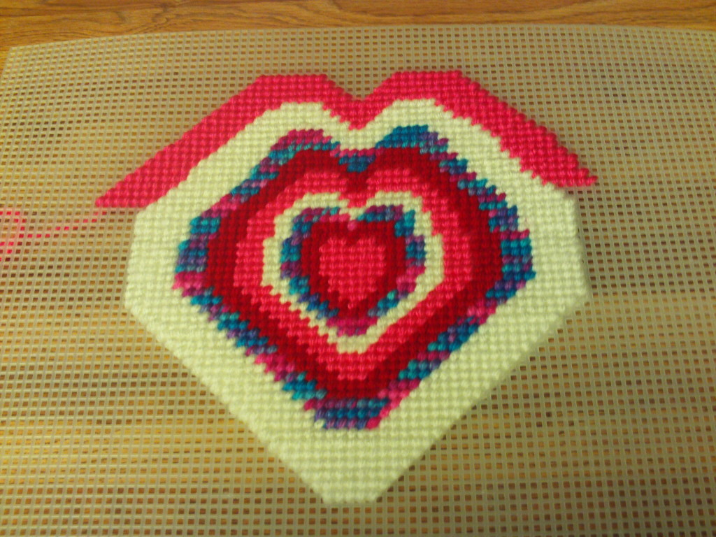 Cross Stitch Heart Design