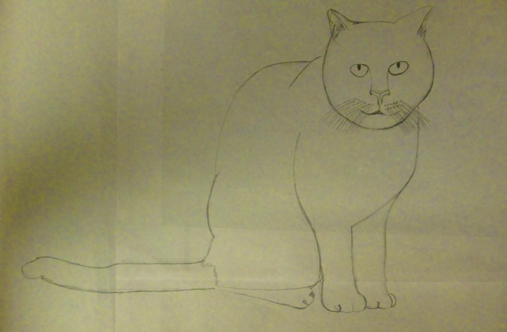 I drew a rough draft copy of Irina on scrap paper.