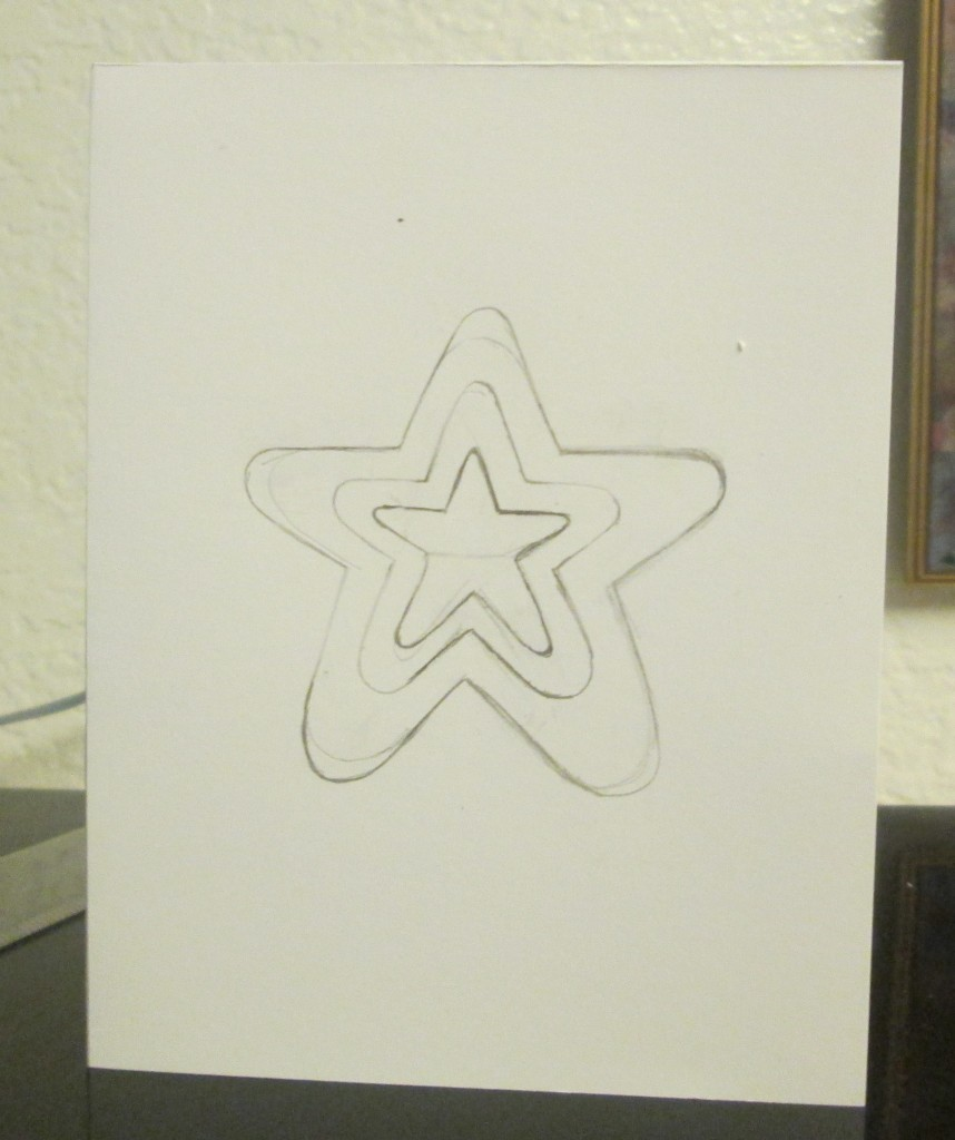 I drew the third star in the sequence on the card.