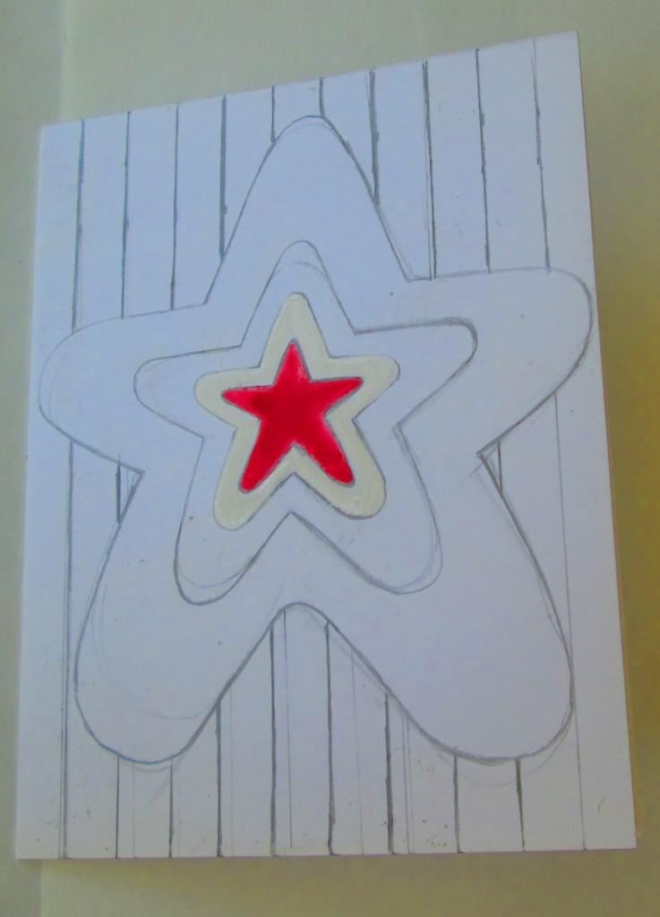 I painted in the center star with red paint.