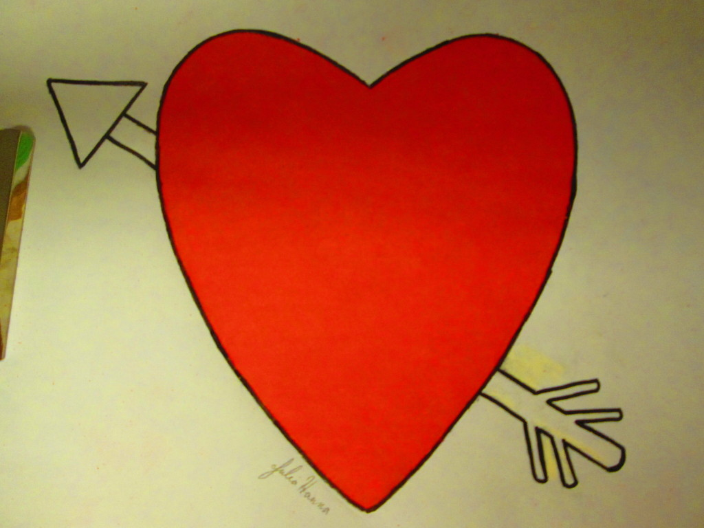 It is exciting once the entire heart has been colored in. Also, just goes to show how rewarding and creative it is to design your own coloring page. I highly recommend it.
