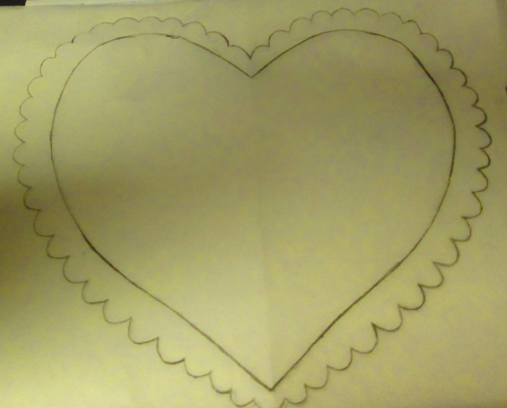 Next, I flipped the heart drawing to the other side.