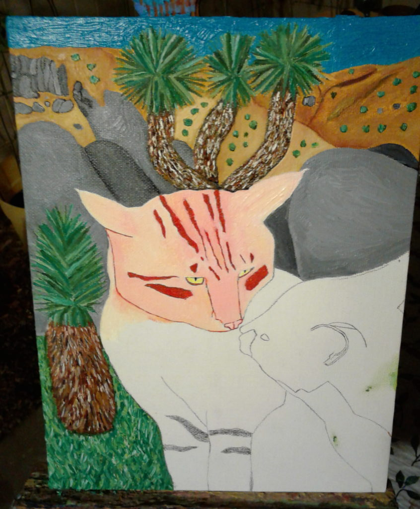 Painting The Cats At Joshua Tree
